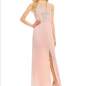 Poise embroidered maxi